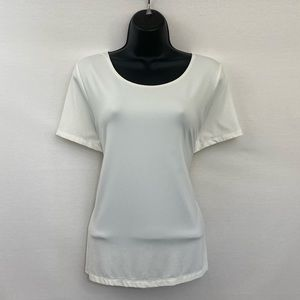 East 5th White Short Sleeve Blouse a Size XL I-94
